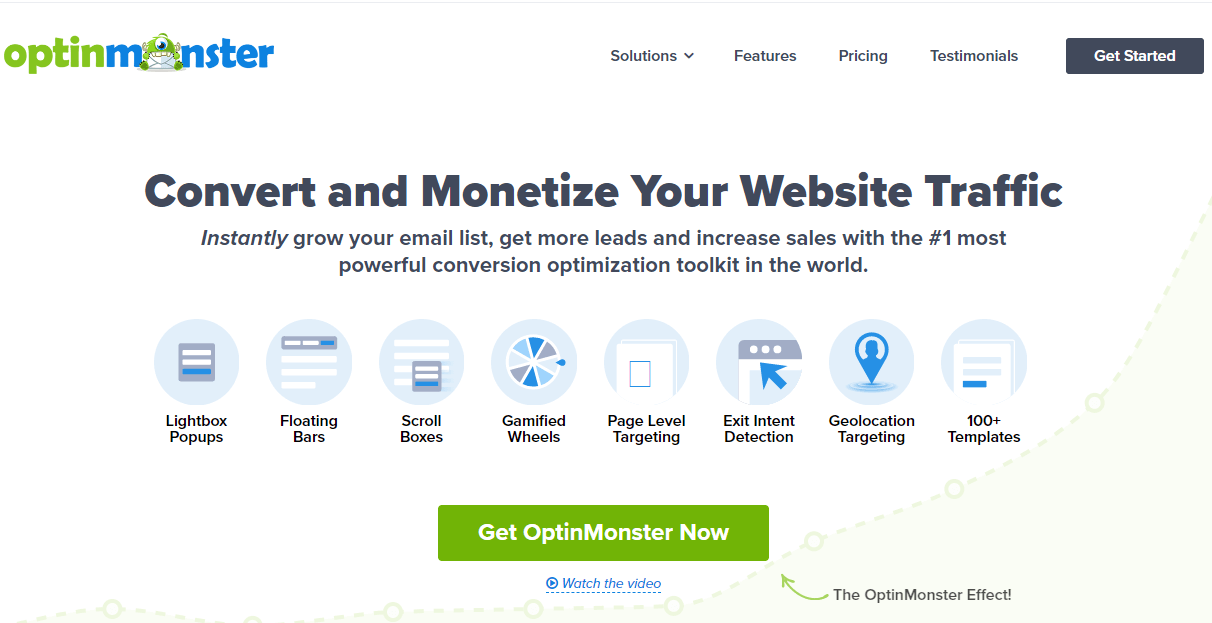 convert and monetize your website traffic with optinmonster