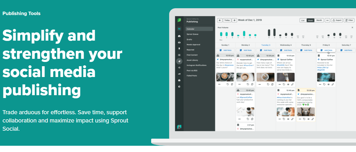 schedule your social media posts ahead with sprout social