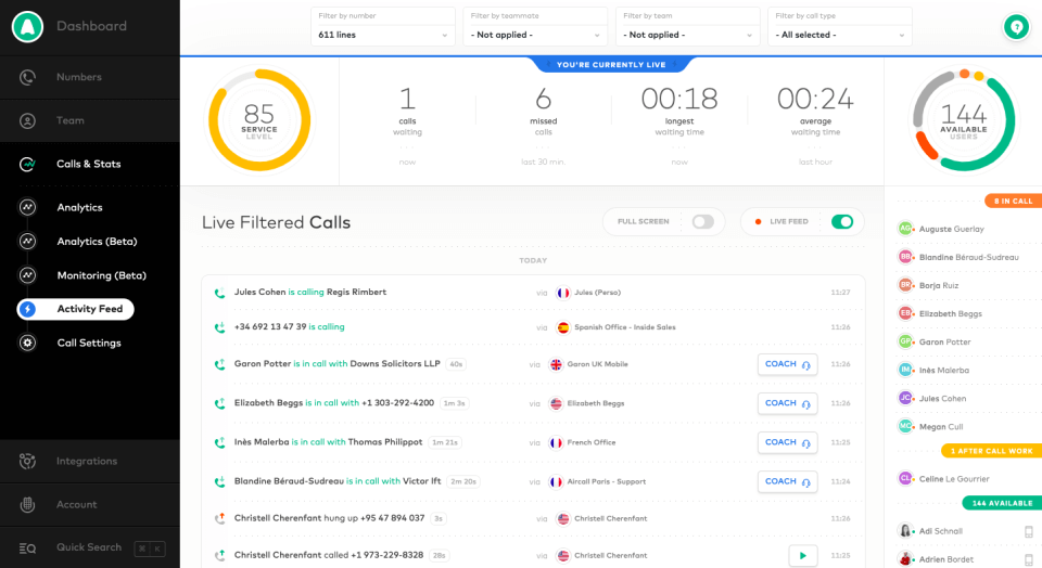 Aircall, a modern way to manage your phone system