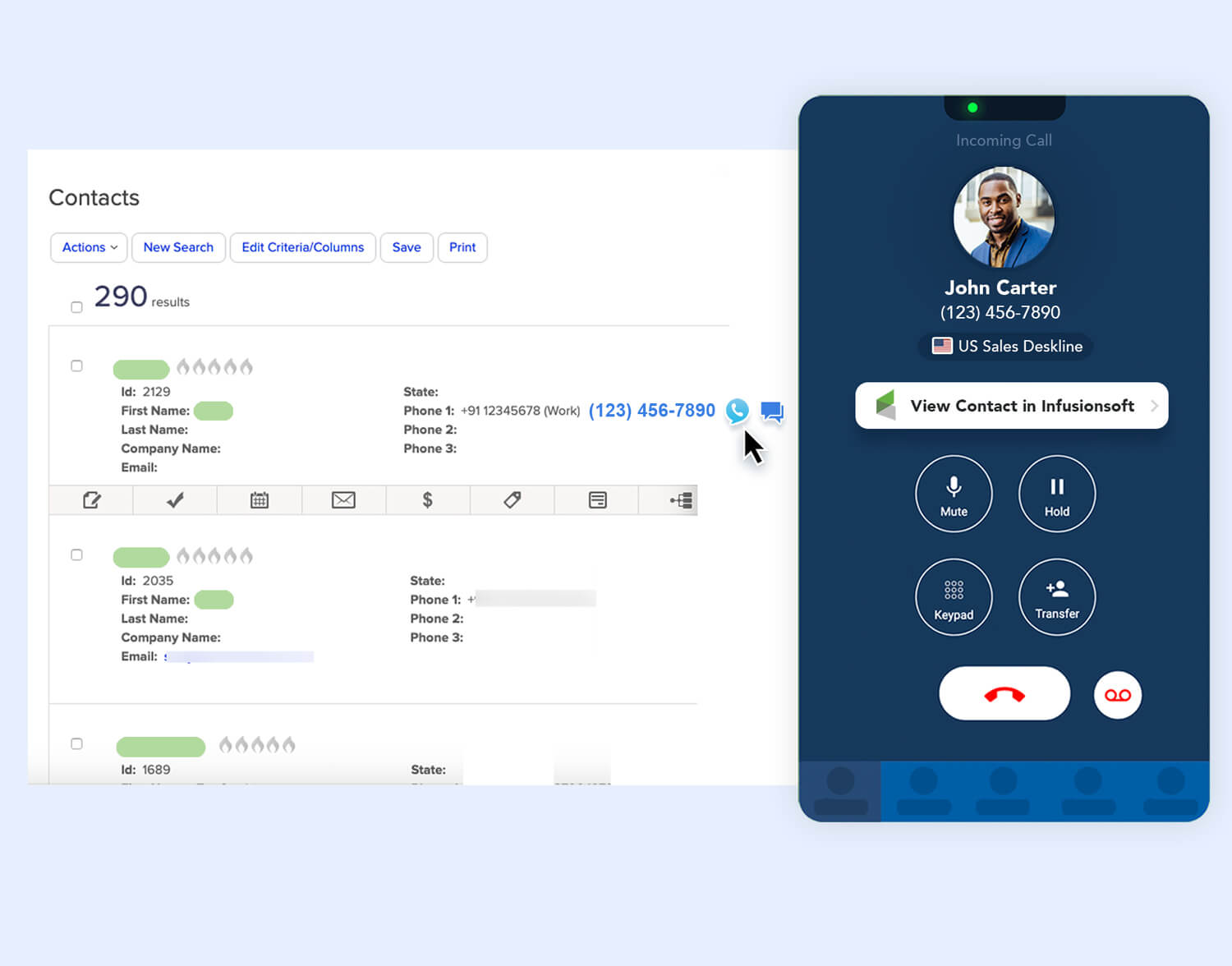 manage your contact within aircall, no need to save them in your phone anymore