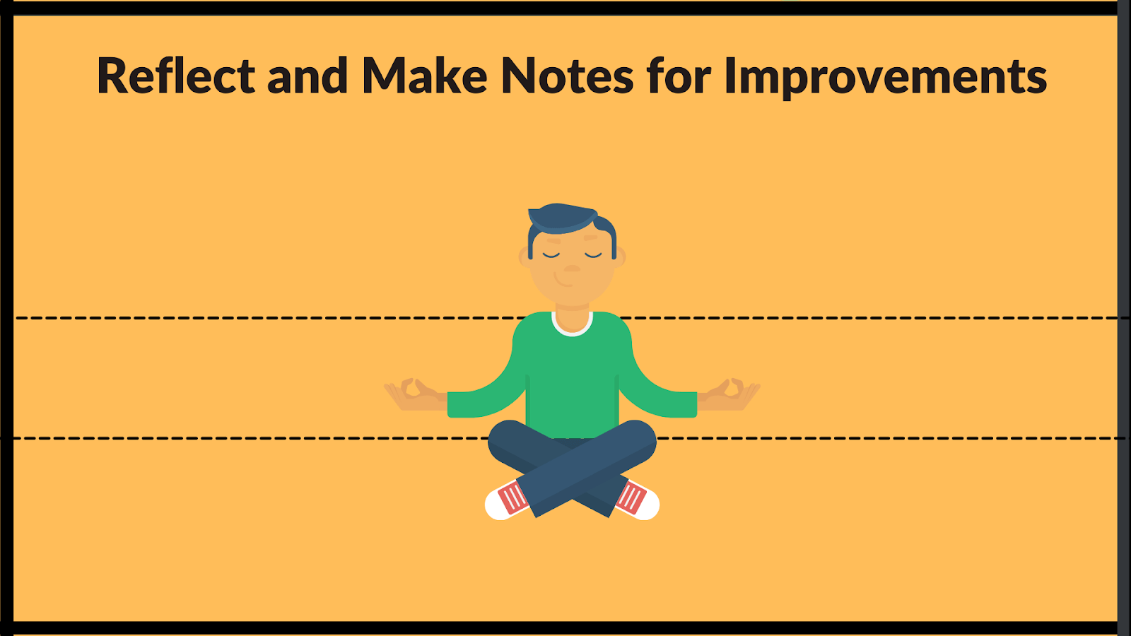reflect on the past and make notes for improvements