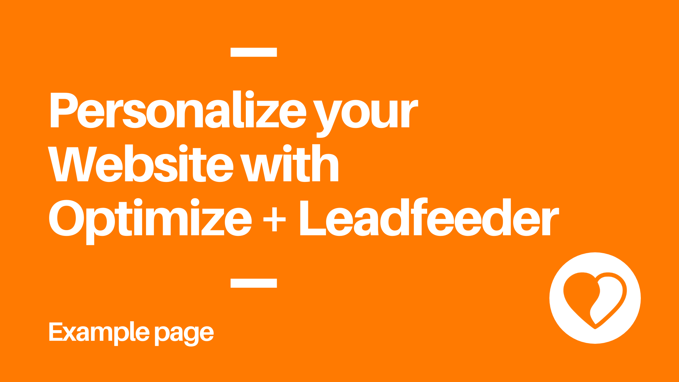 How to personalize your website