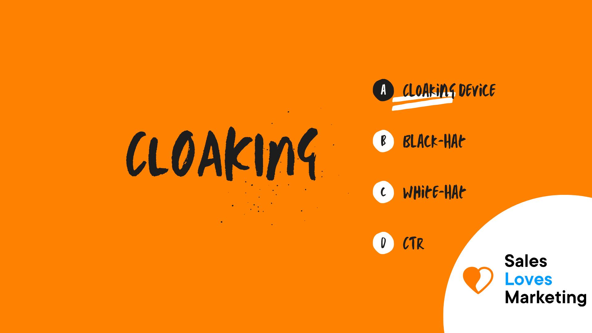 Cloacking