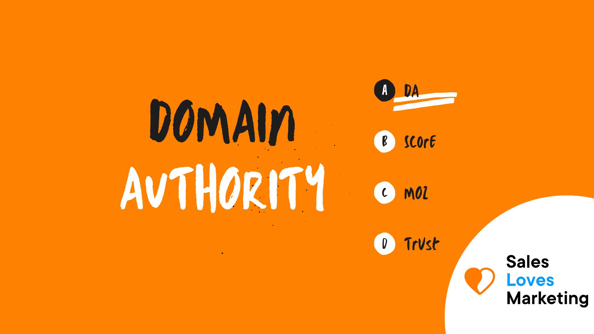 Domain Authority (DA)