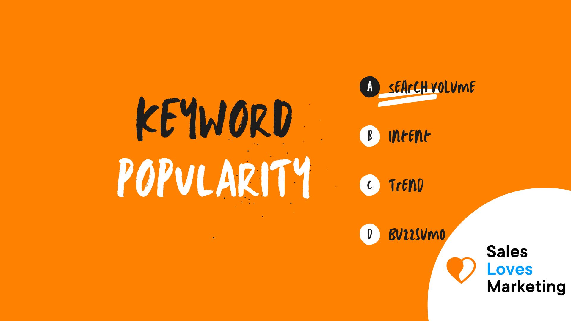 Keyword Popularity