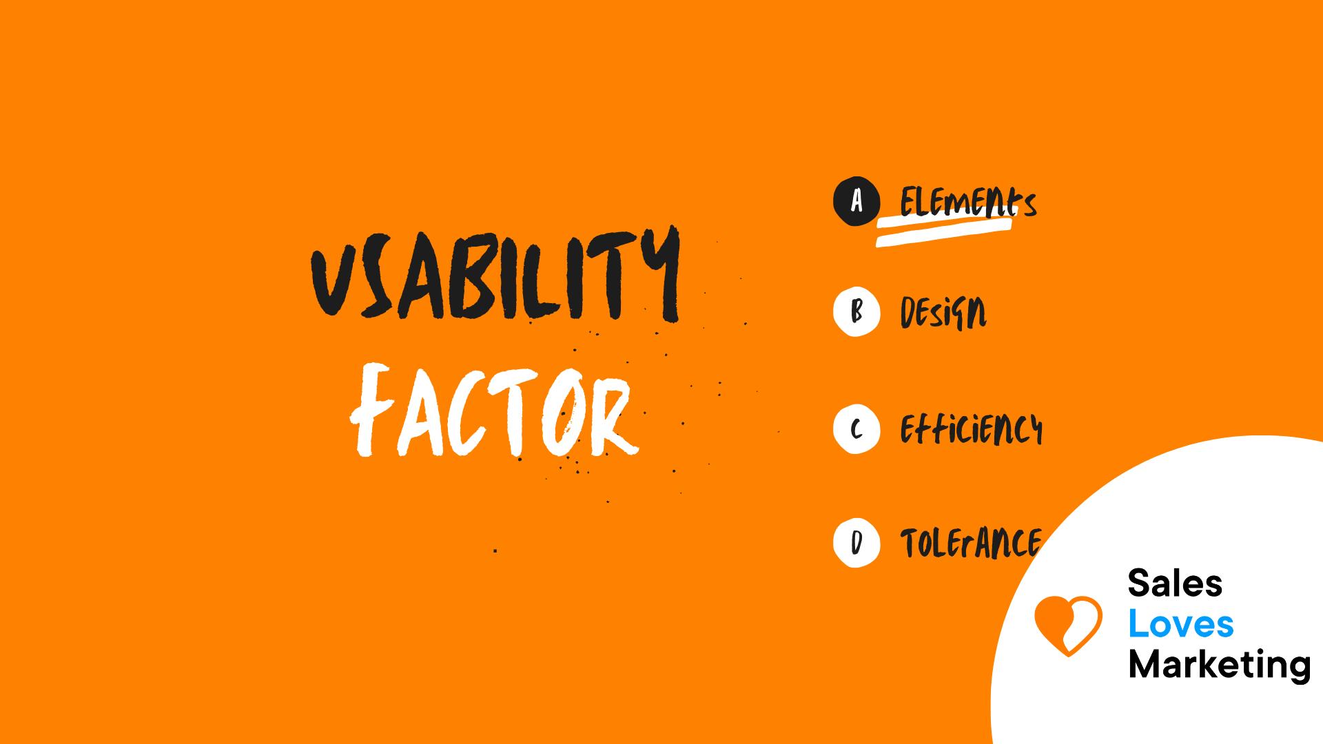 Usability Factor
