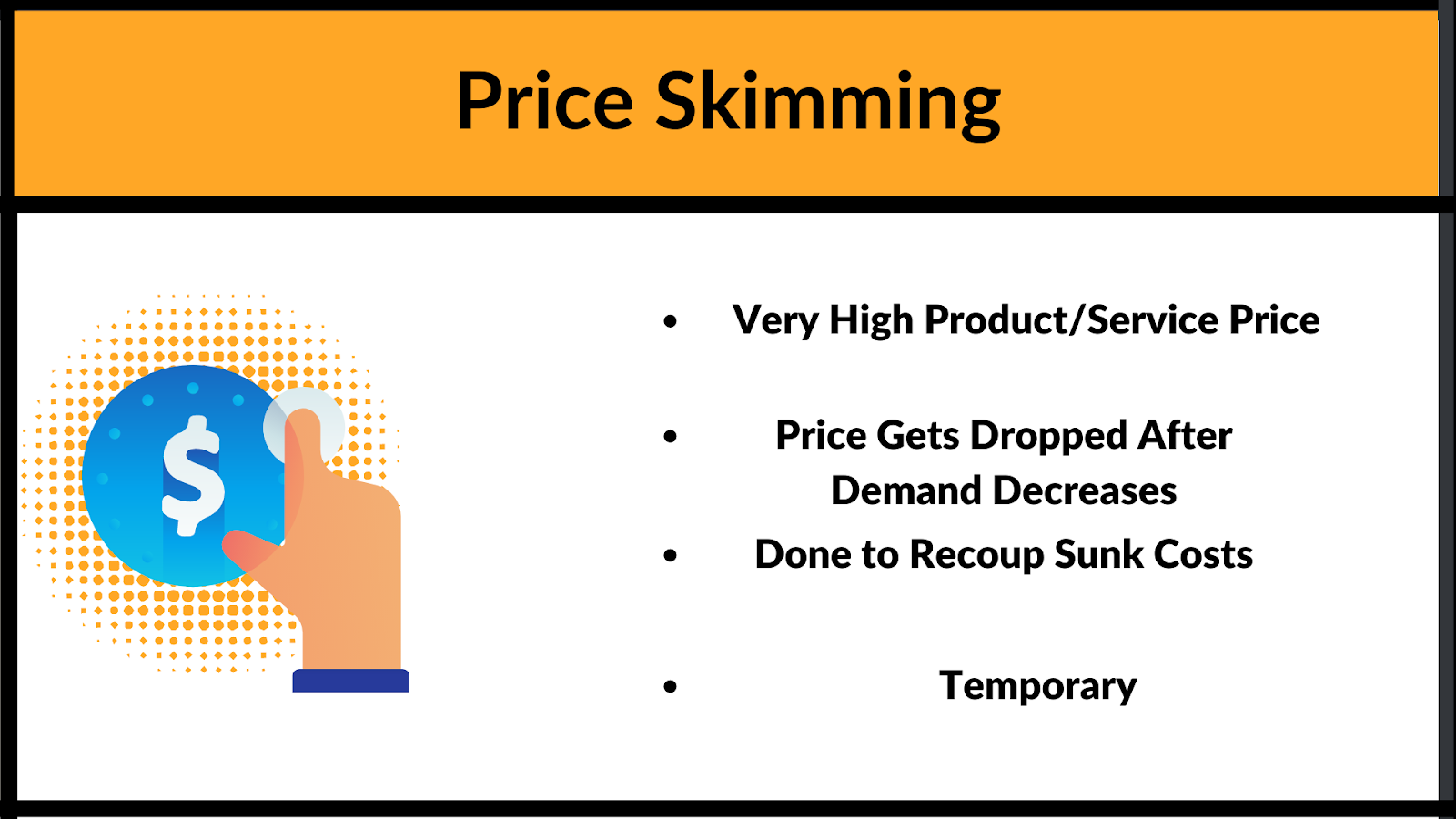 What are the characteristics of price skimming