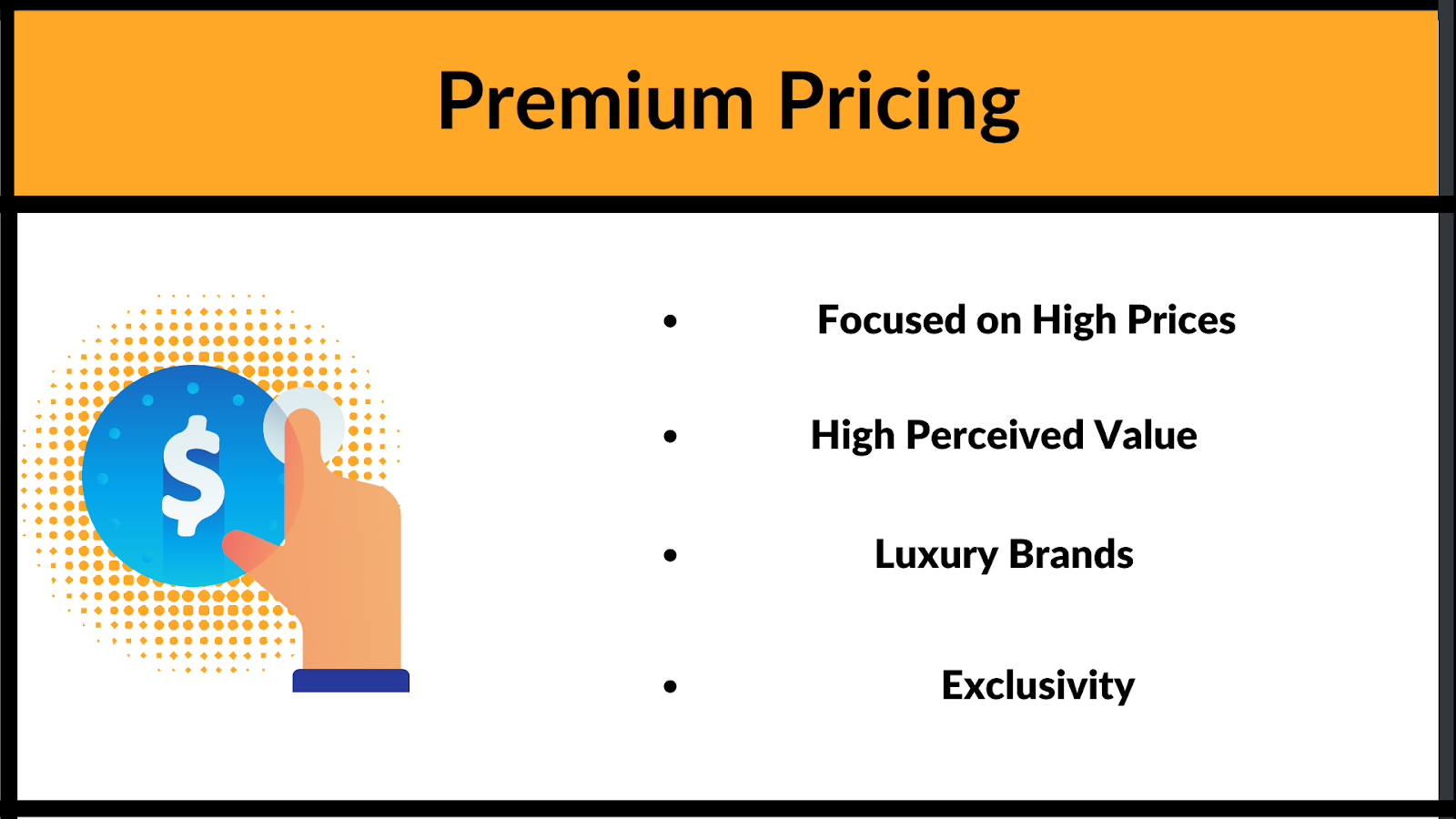 What are the elements for premium pricing