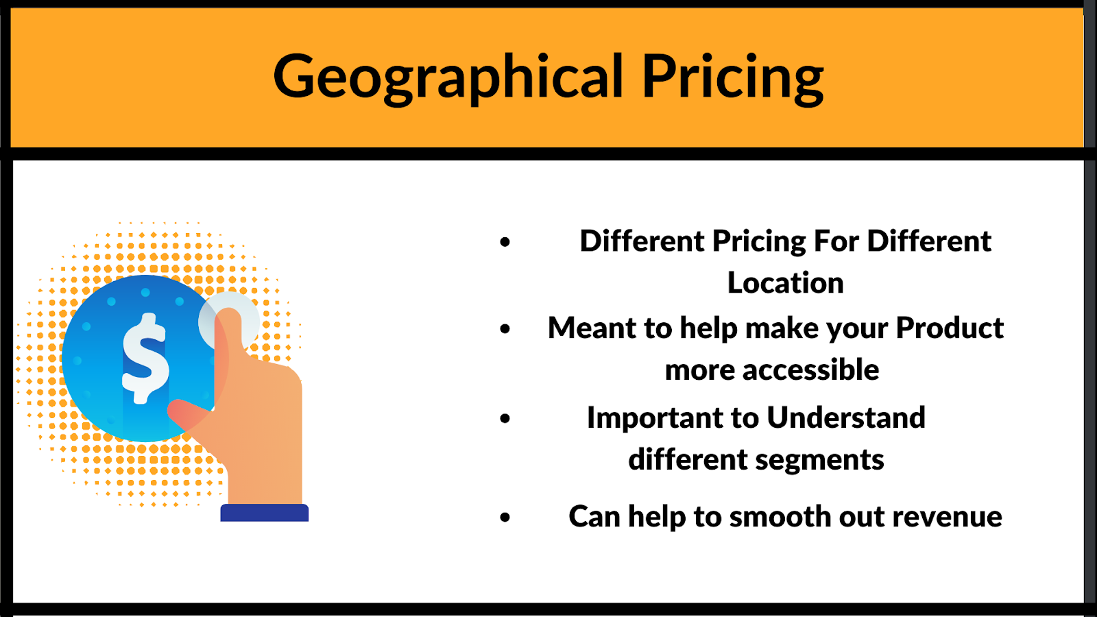 What is Geographical. pricing and some examples