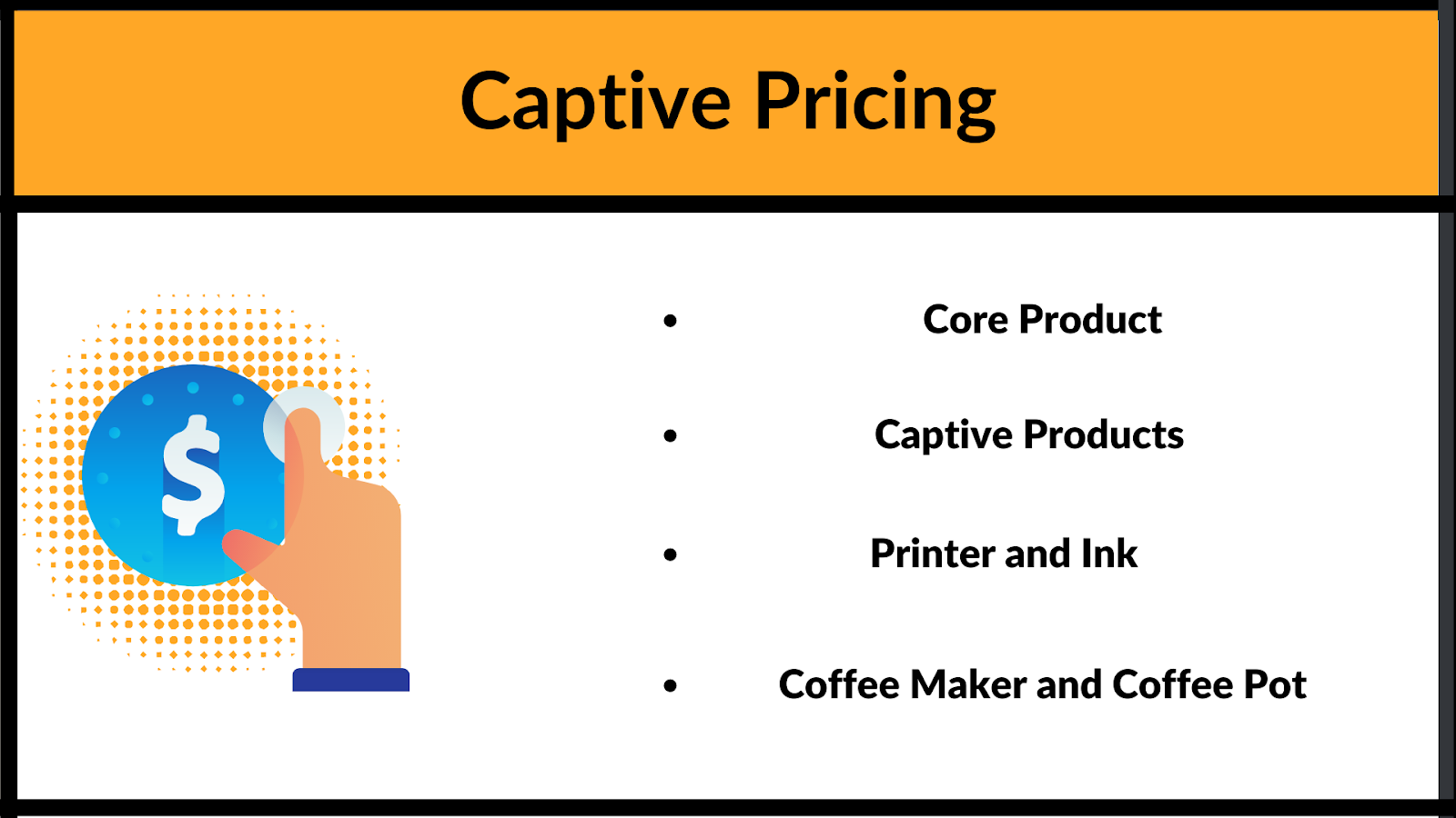 What is Captive pricing and what does it include
