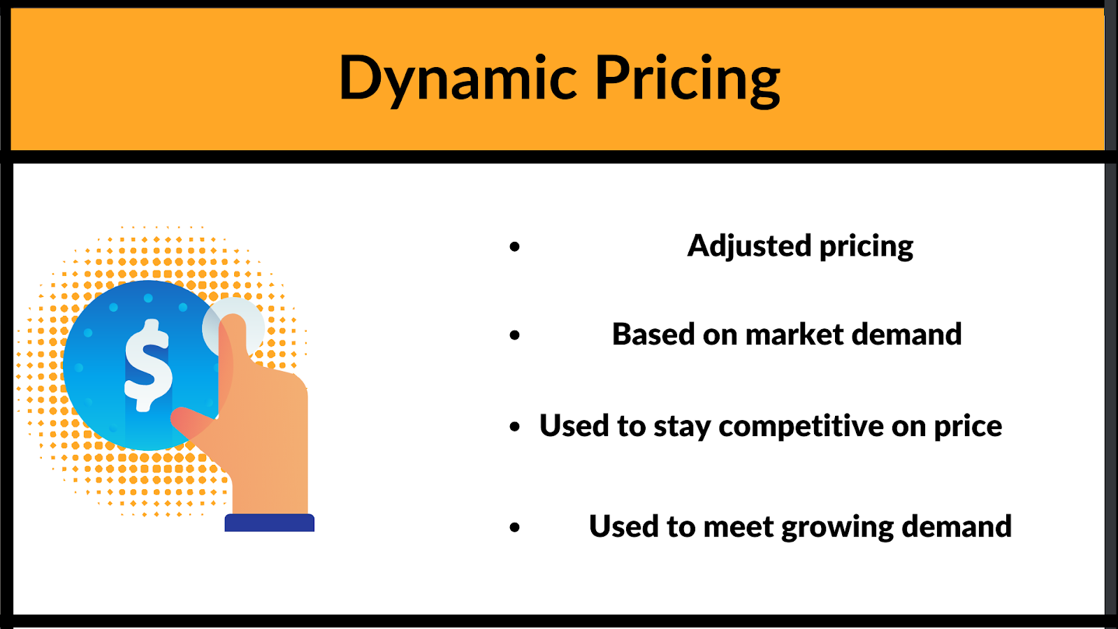 What are the elements of Dynamic pricing model