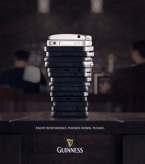 Guiness add example on above the line advertising