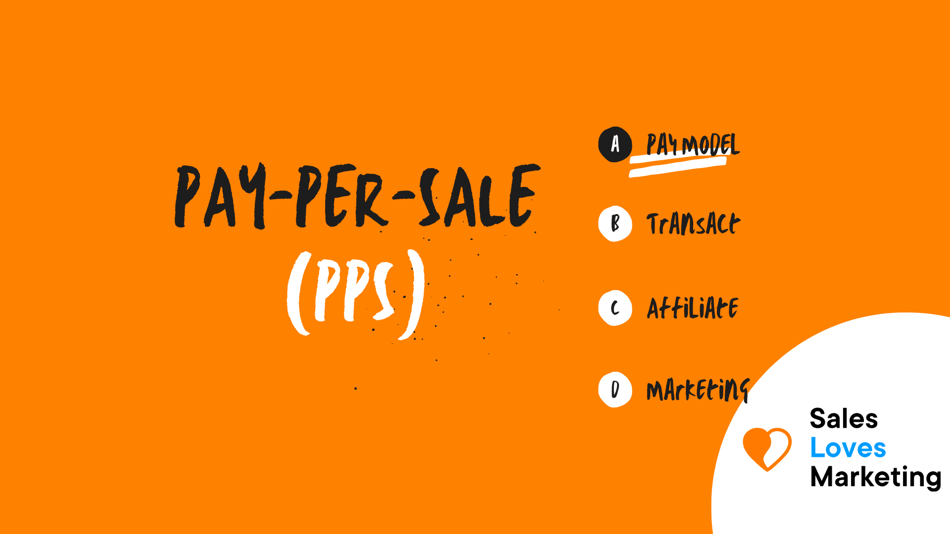 Pay Per Sale (PPS)