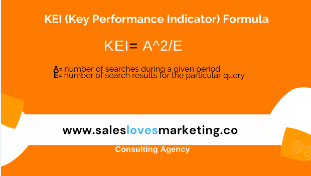Formula to calculate Keyword Effctiveness Index (KEI)