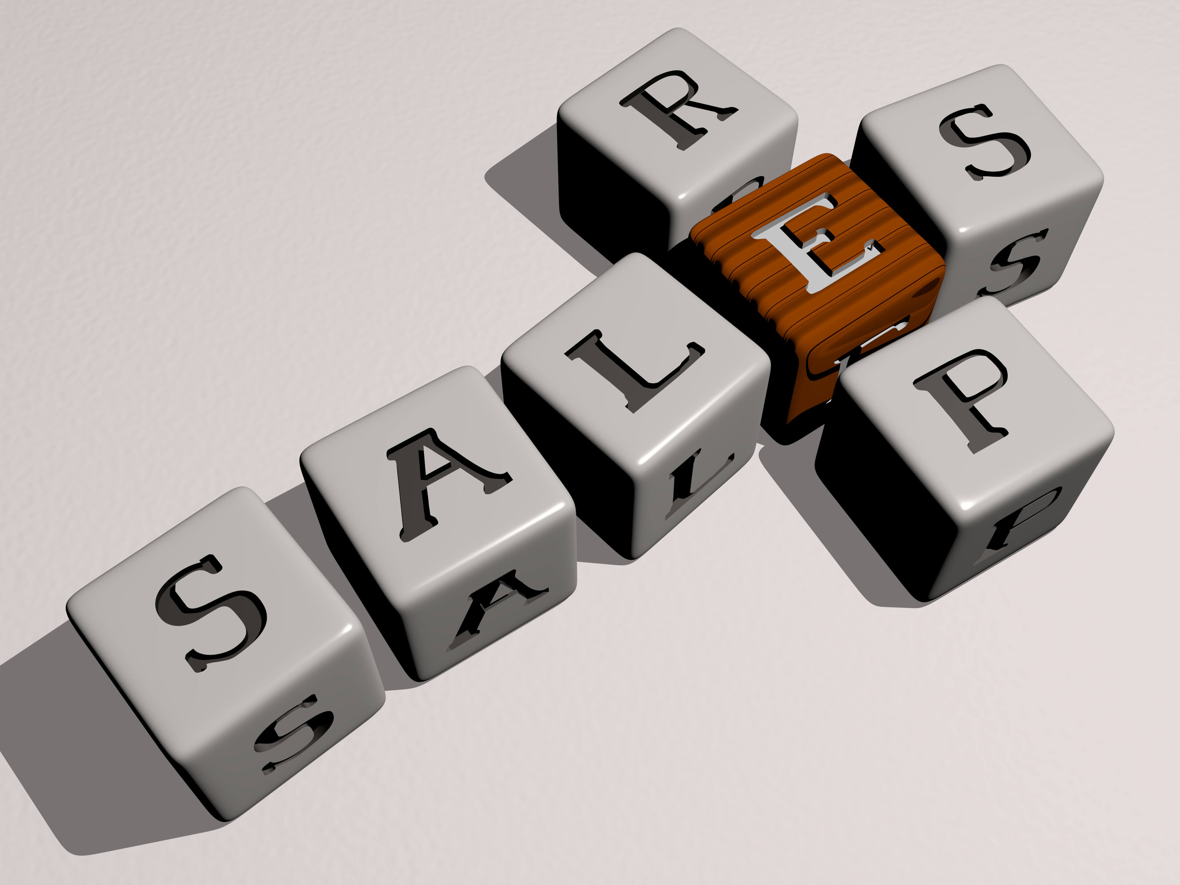 Salesreps written out with blocks.
