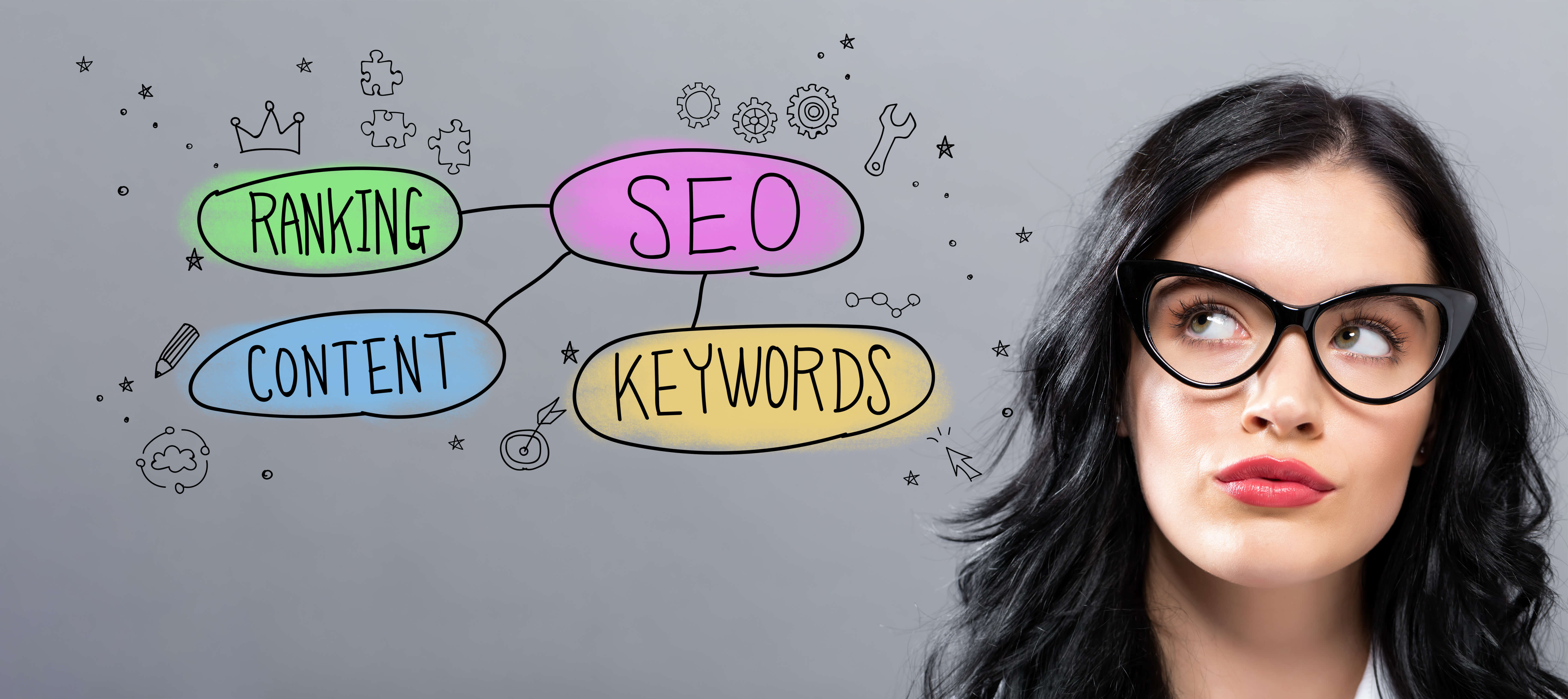 Image showing seo and some factors it includes