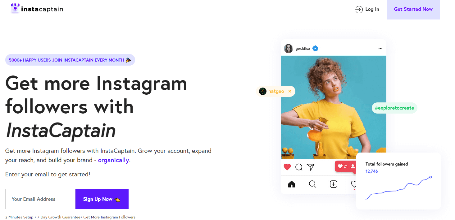 Get more instagram followers with automation like instacaptain