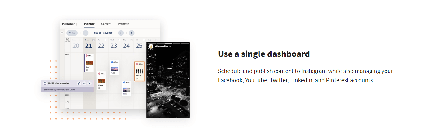 Manage all your social media channels from one dashboard