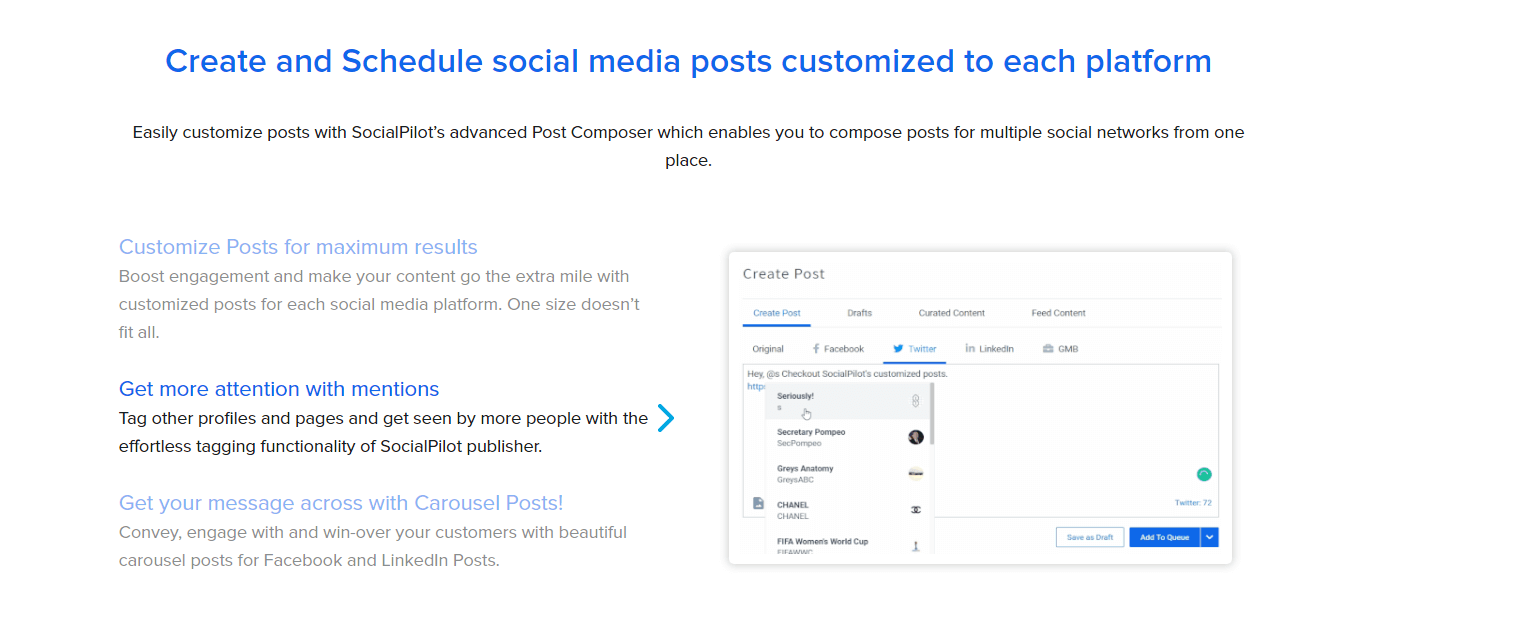 Create and schedule social media posts for every platform.