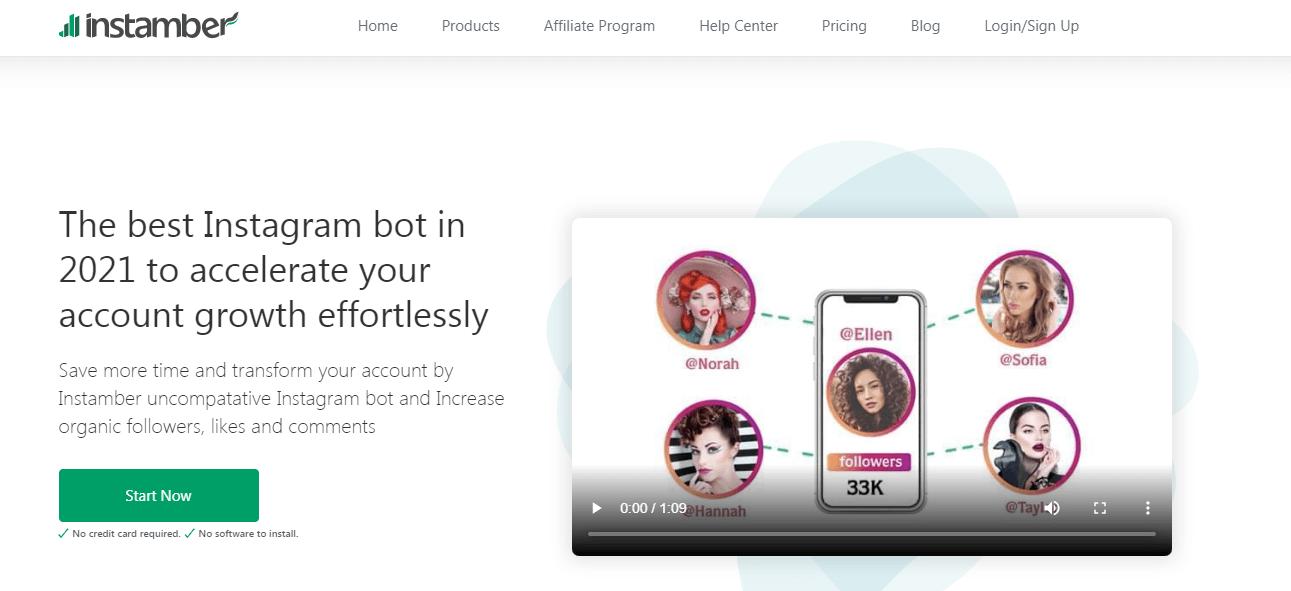 Instagram bot to grow your account; instamber