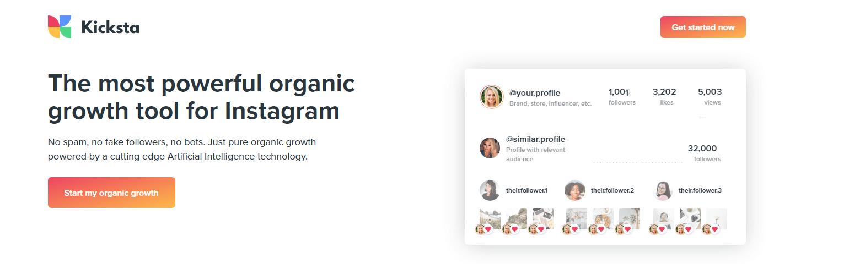 grow your instagram organically with Kicksta