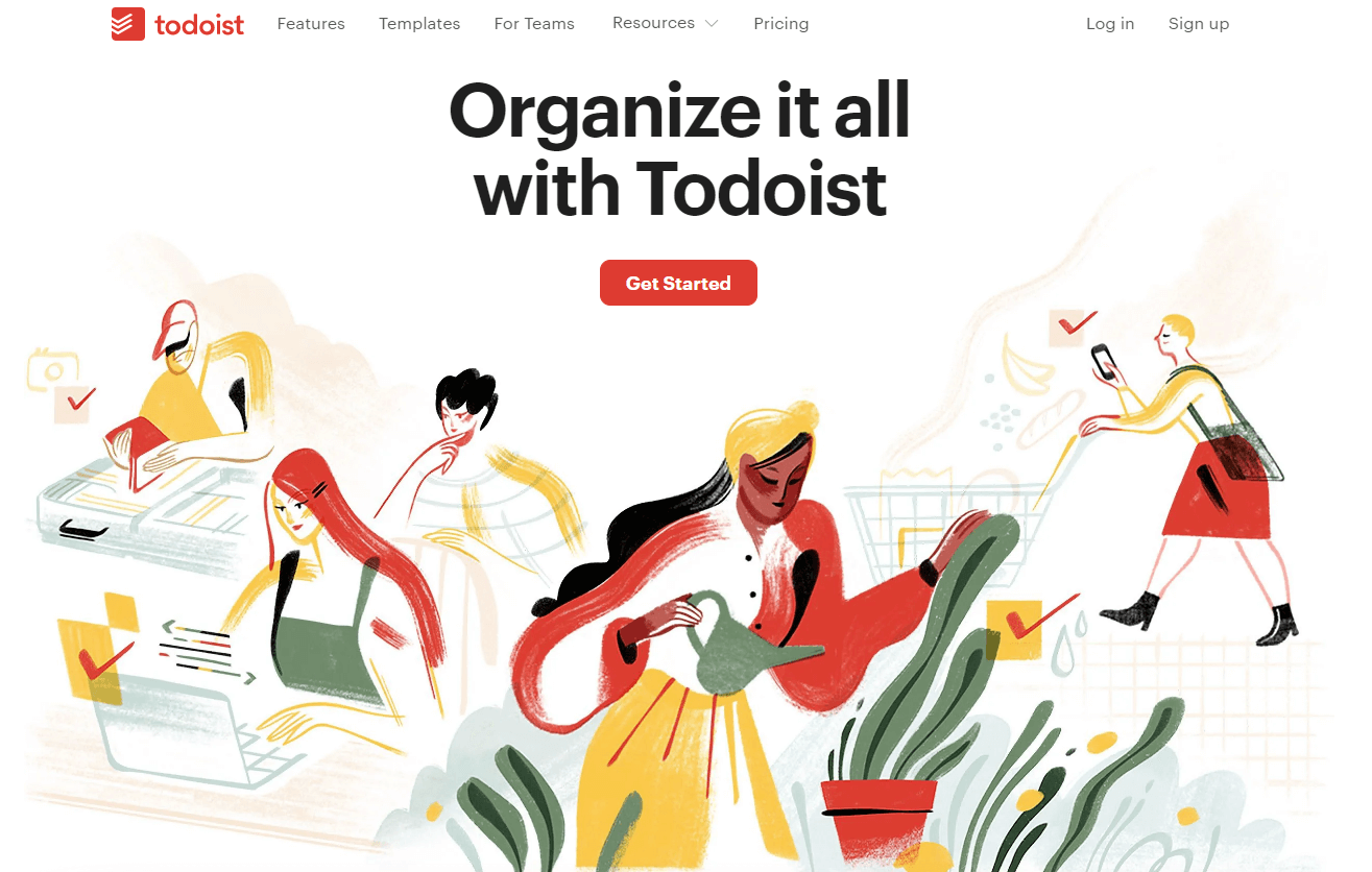 Organize yourself, team and company with Todoist.