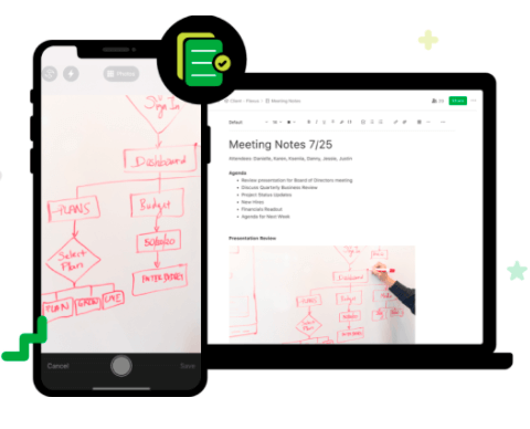 Save all your meeting notes in one place.
