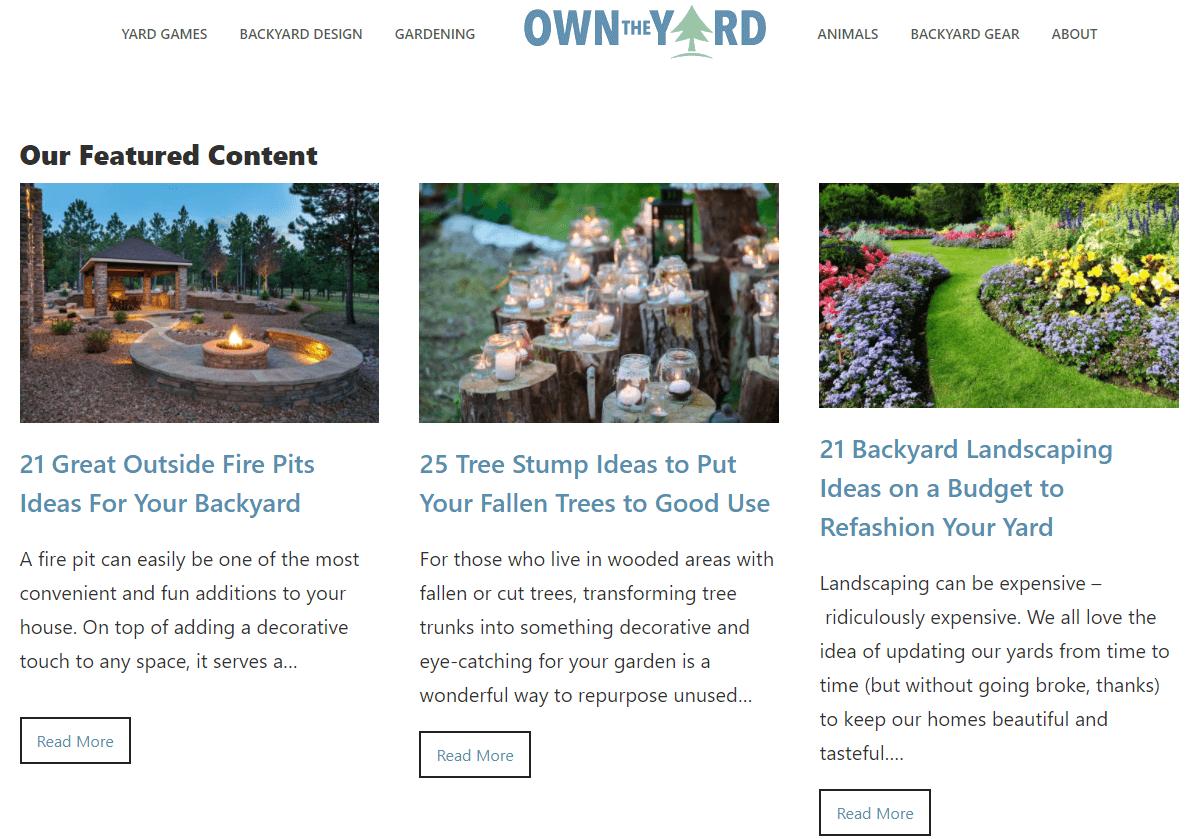 affiliate website in garden materials