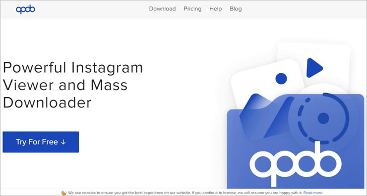 watch instagram stories bulk with qoob