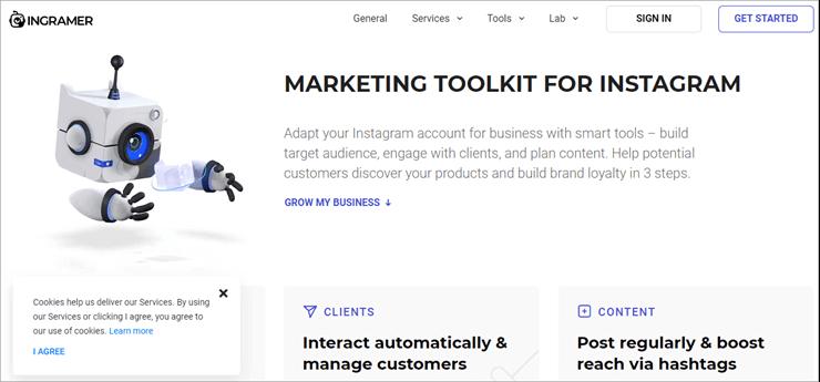 Get a full instagram marketing toolkit with Ingramer