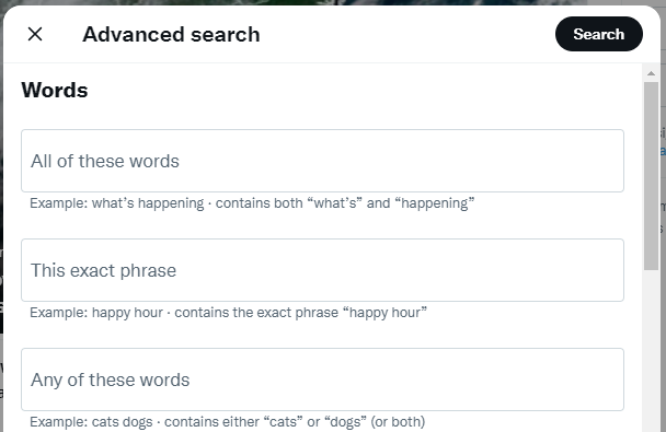 advanced twitter search screenshot