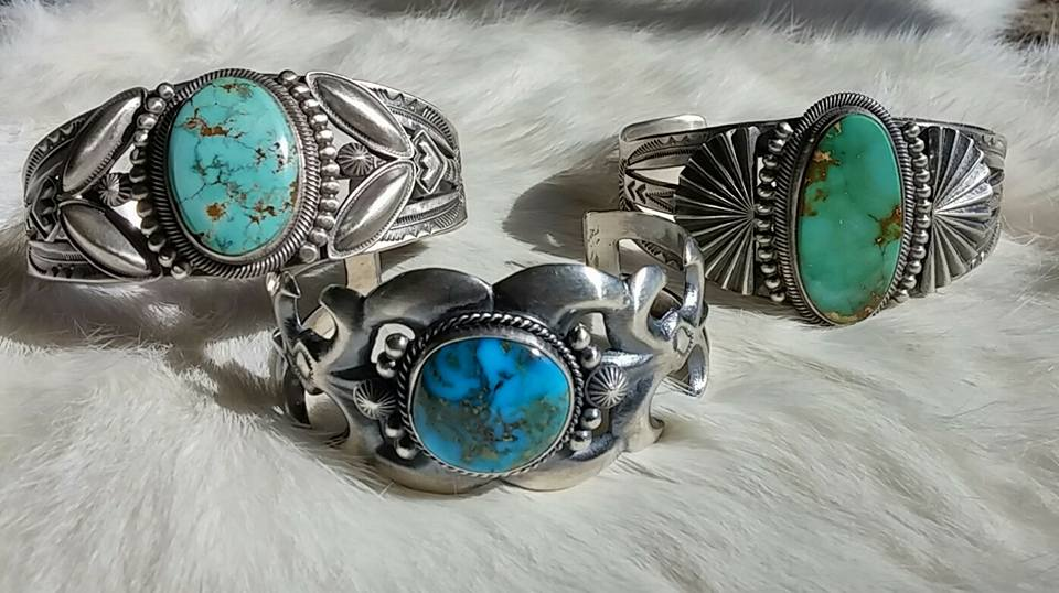 Hand crafted Navajo turquoise bracelets