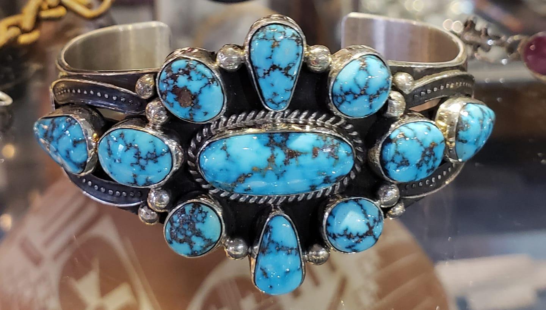 Natural Kingman Turquoise Bracelet