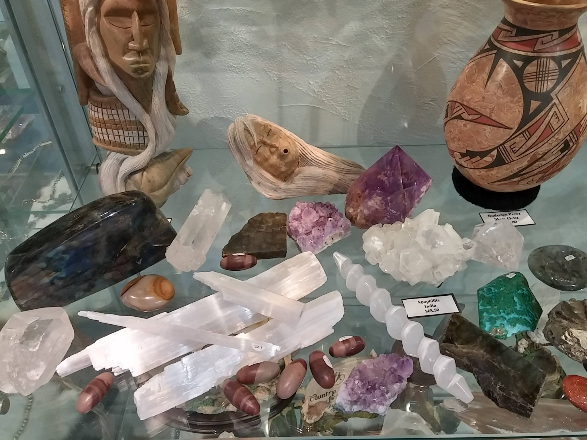A collection of stones and rock formations.
