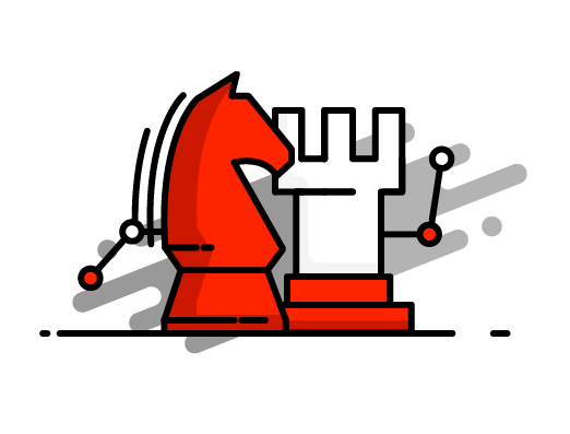 marketing strategy with chess pieces