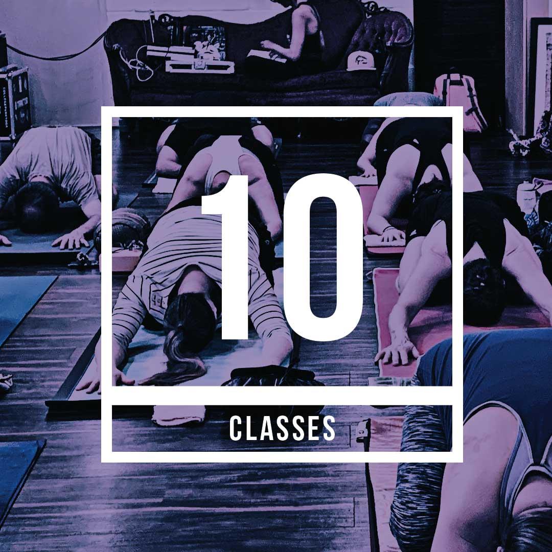 10 class pass for $100