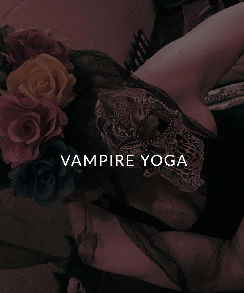 It's about to get spooky in here! what do you get when you mis lokah luv, Halloween and yoga class.. vampire yoga. Only at College park yoga.