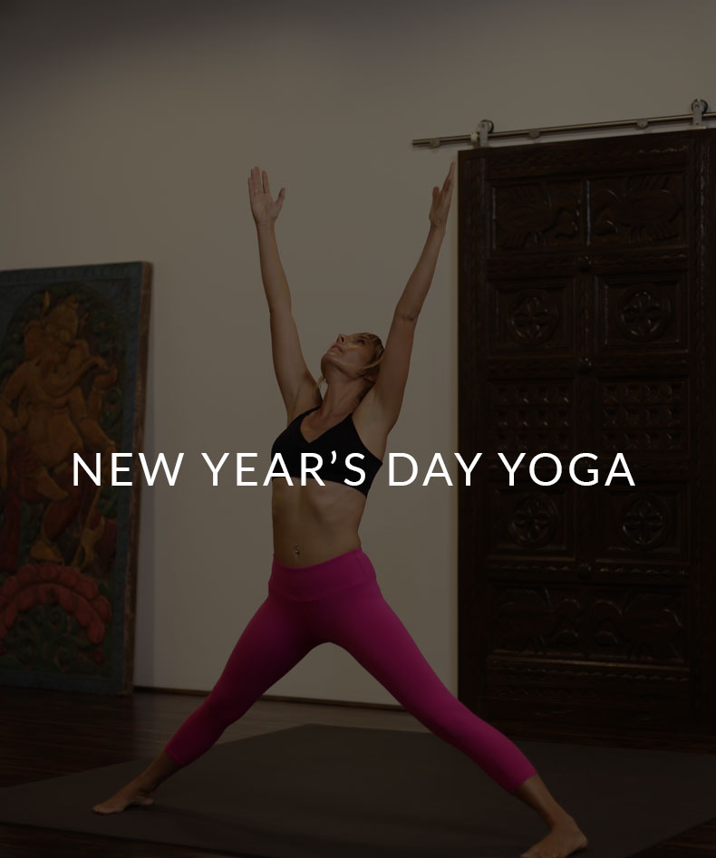 Start the new year with yoga. Now, that is a lucky way to begin!