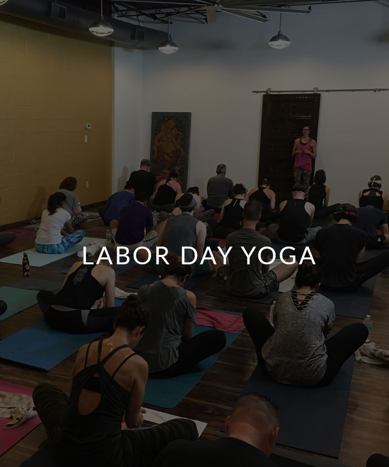 Labor Day Yoga class at College park yoga in Orlando, Florida. Class starts at 9am