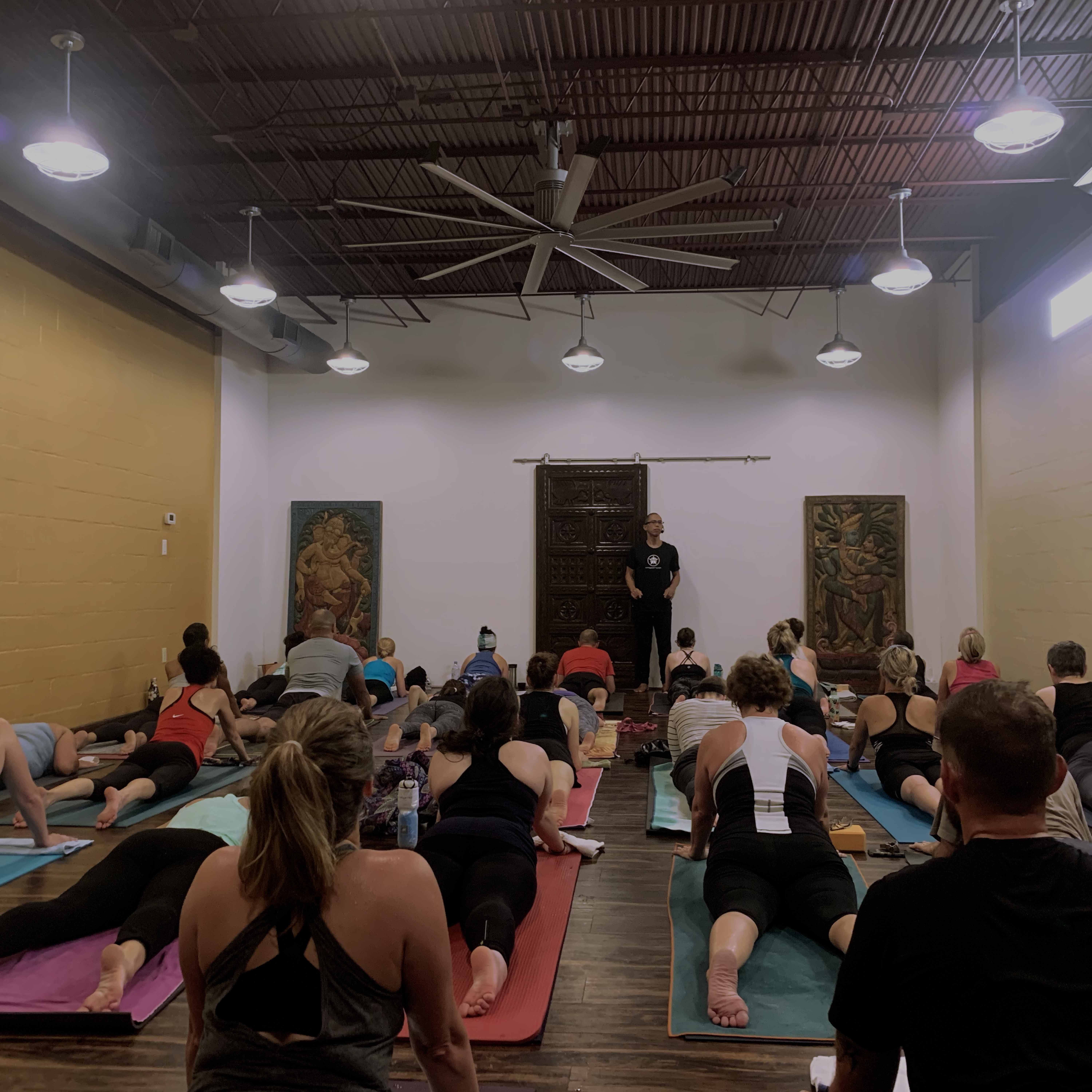 beautiful yoga classes in a beautiful setting with teachers whose knowledge has been gained through a lot of experience teaching.