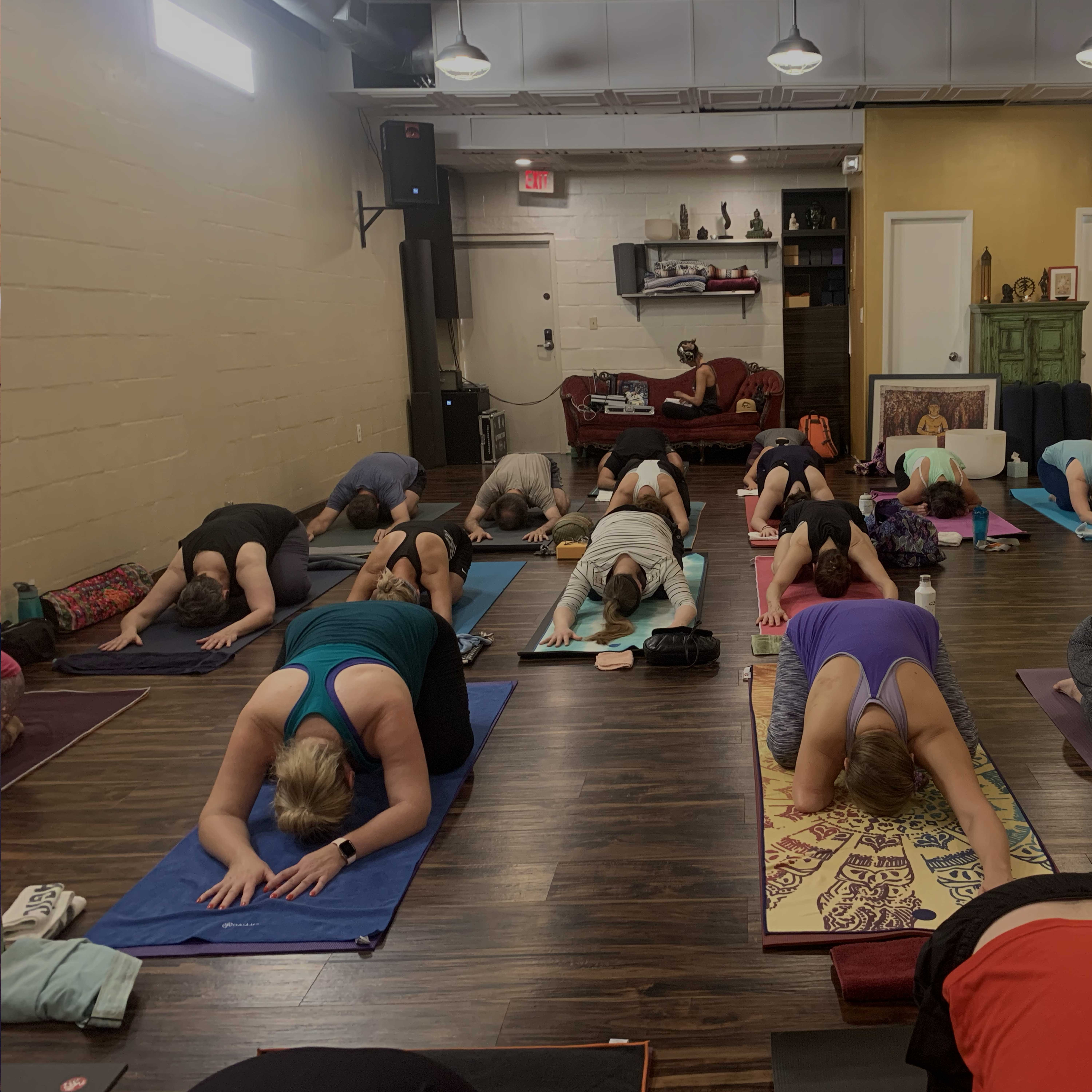 Yoga classes are always a blast at College Park Yoga, CPY!