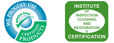 Green Seal Certified Product and Certification of institute of inspection cleaning and restoration