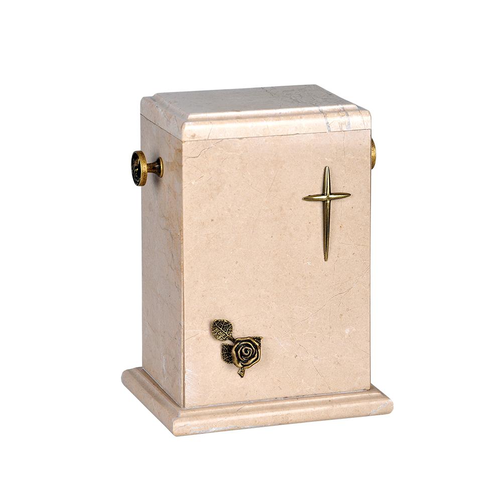 Urna kamienna z krzyżem