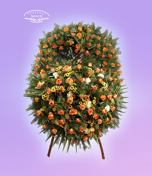 Wieniec z kwiatów mieszanych