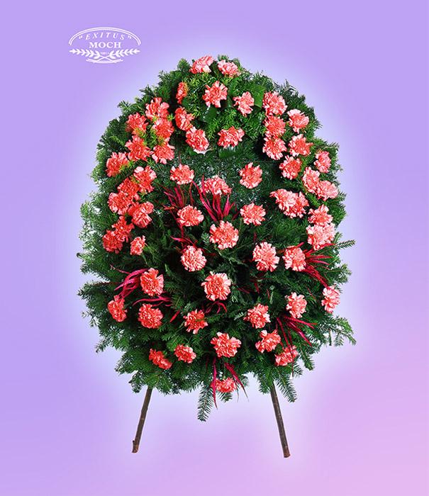wieniec pogrzebowy z kwiatów różowych