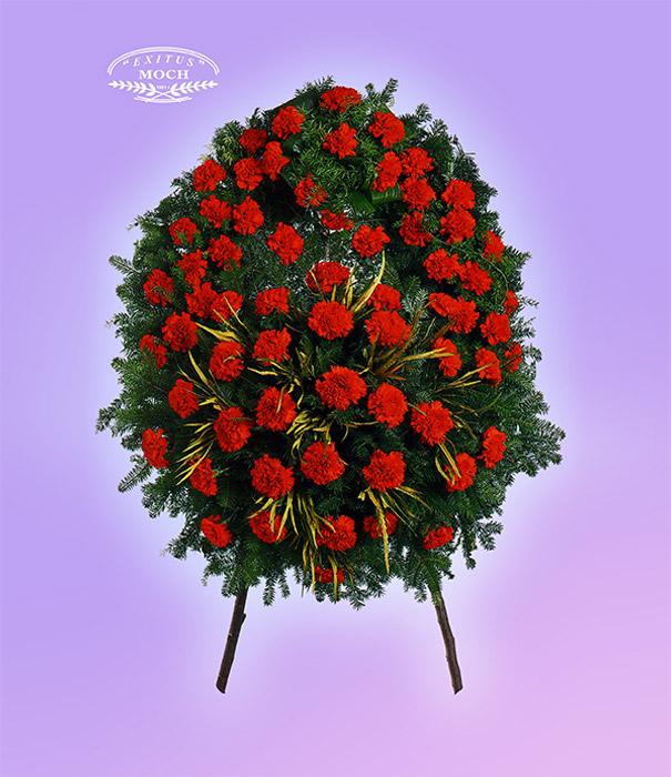 wieniec z kwiatów czerwonych