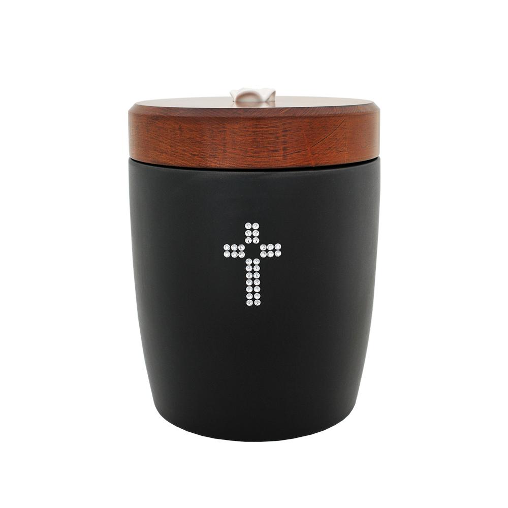Urna ceramiczna z kryształami