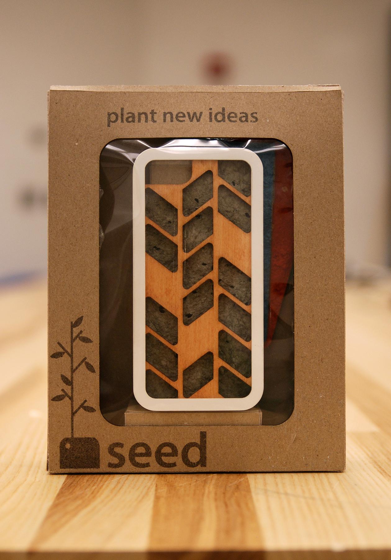 Seed Phone Case in Packaging