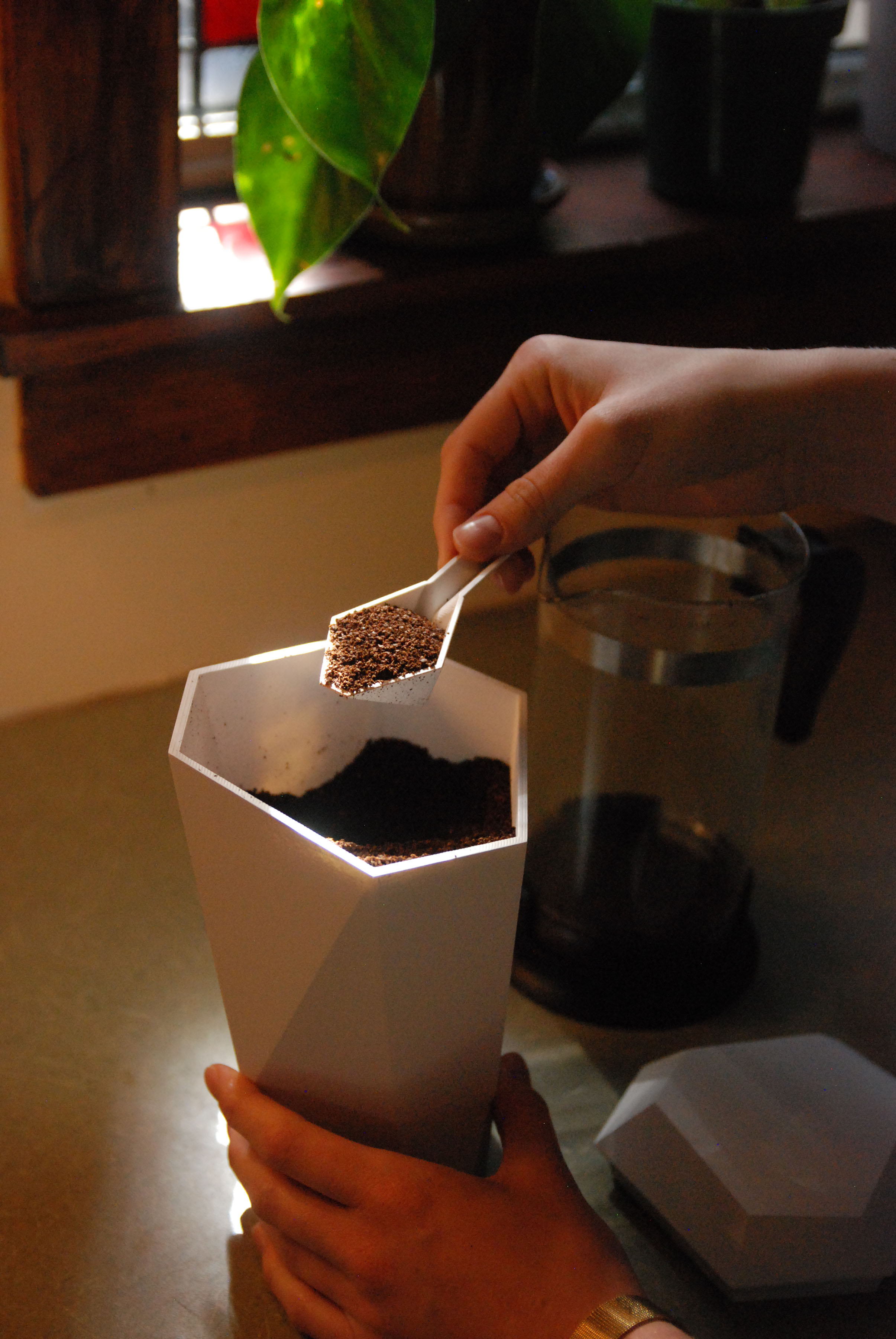 Coffee Canister Home Setting