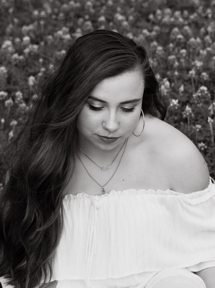 Olivia Black And White Angelica Carrete Photography